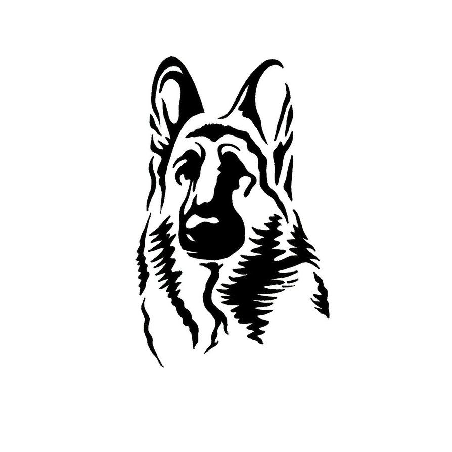 18 Awesome german shepherd head clipart.