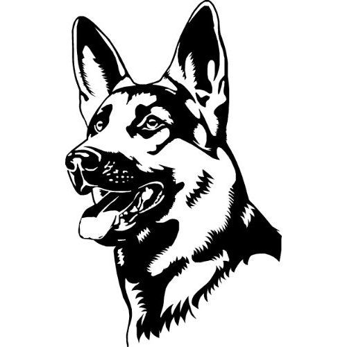 German shepherd clipart black and white 3 » Clipart Station.
