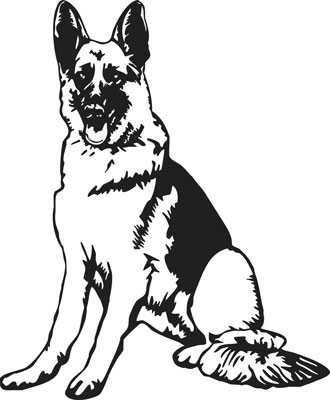 Collection of German shepherd clipart.