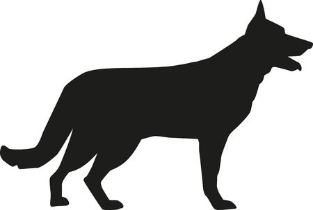 German Shepherd Silhouette Clip Art Free.