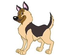 German shepherds dog clipart.