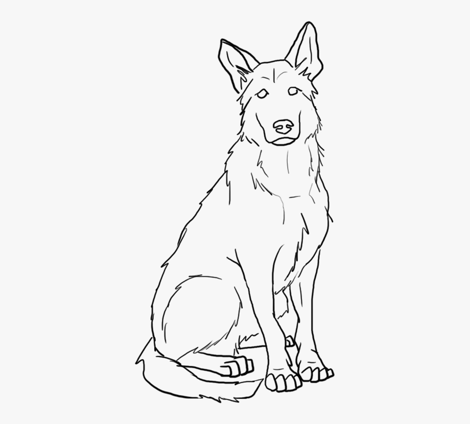 German Shepherd Face Clipart.
