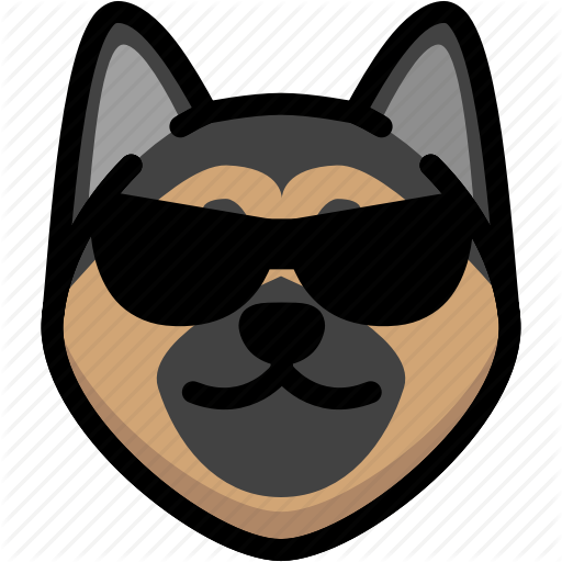 \'German Shepherd Emoticons\' by AomAm.