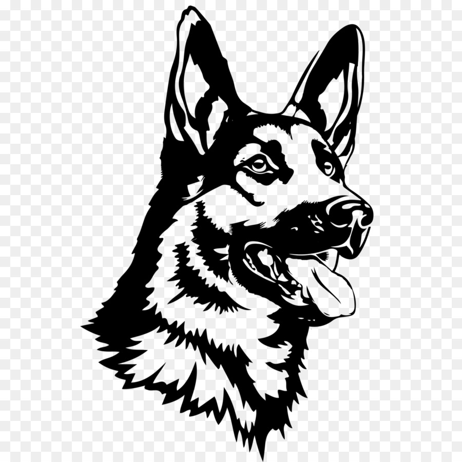 Download High Quality head clipart german shepherd.
