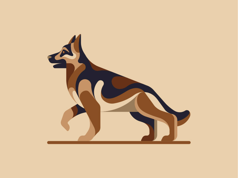 German Shepherd by Ghitea Florin on Dribbble.