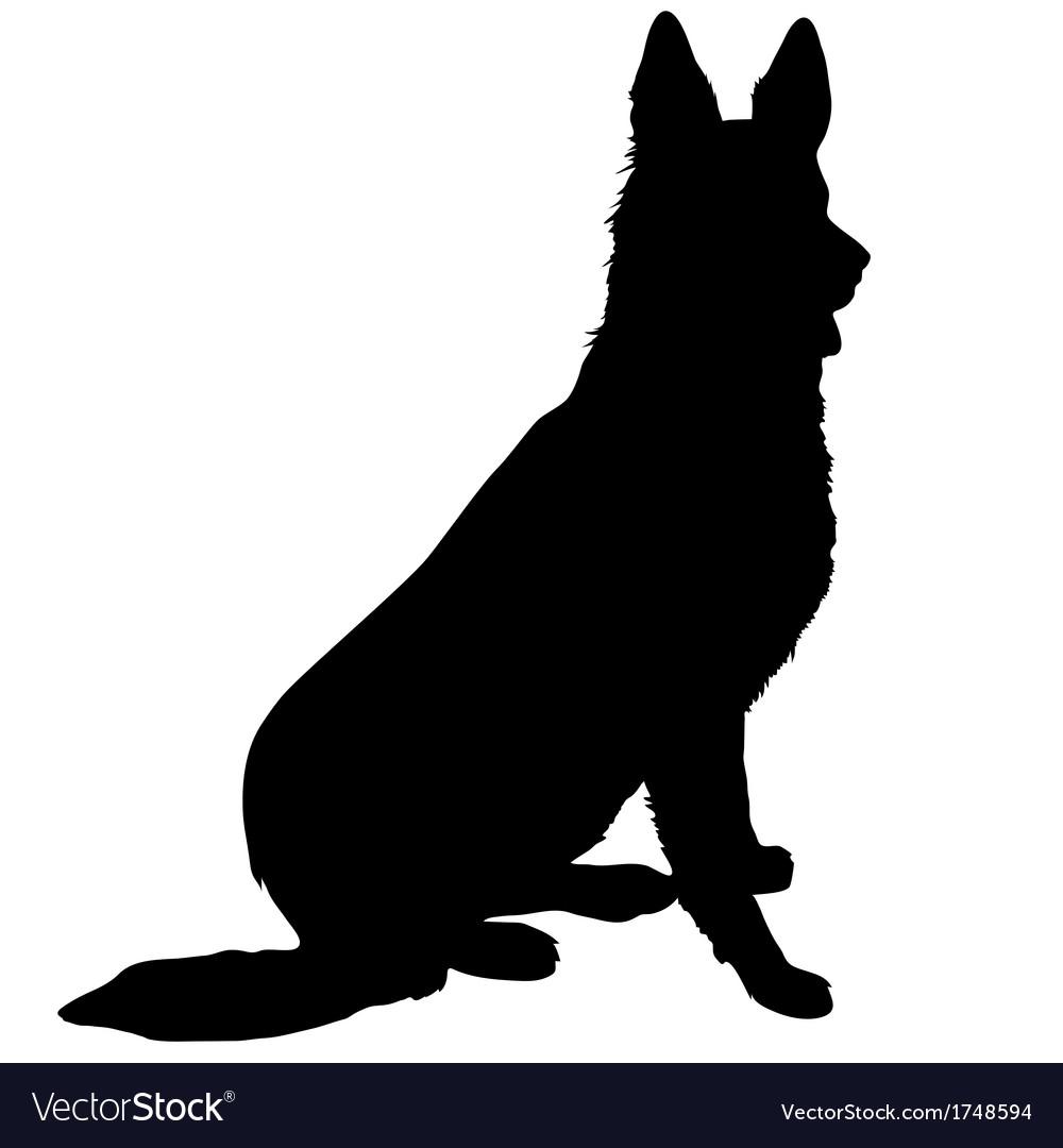 German Shepherd Silhouette Images.