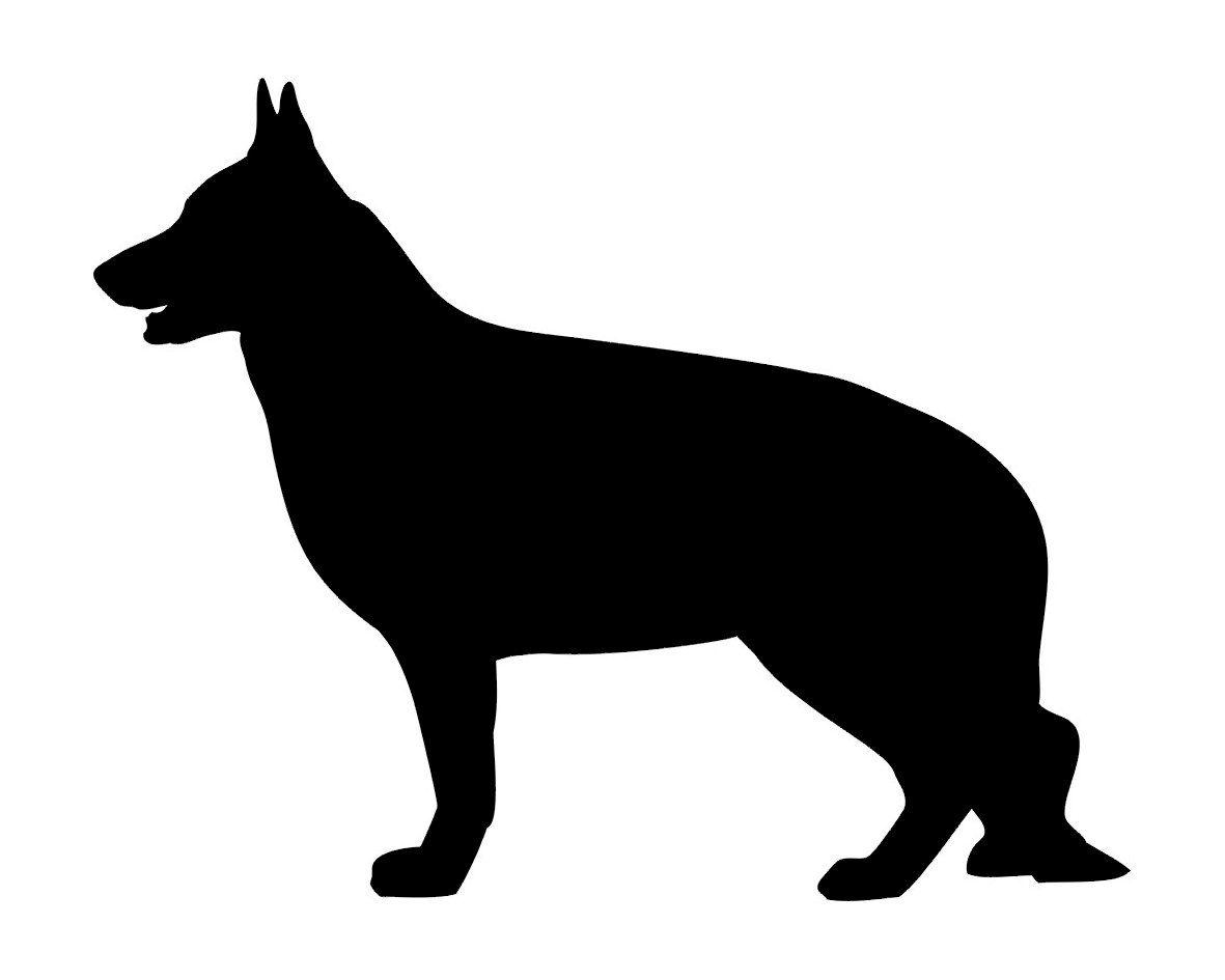 SALE German Shepherd Dog Silhouette Vinyl Decal for by.