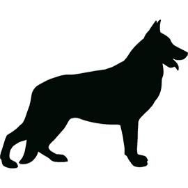german shepherd silhouette. tattoos.