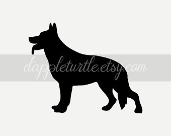 German shepherd svg.