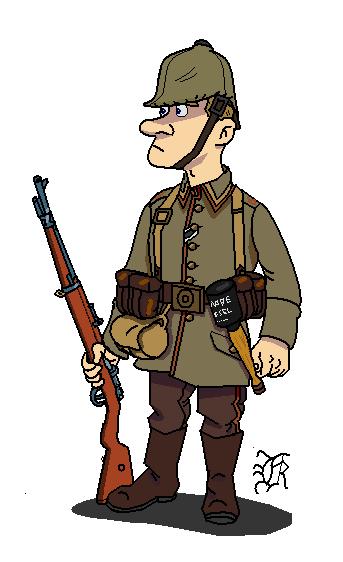 German Soldier Clipart.