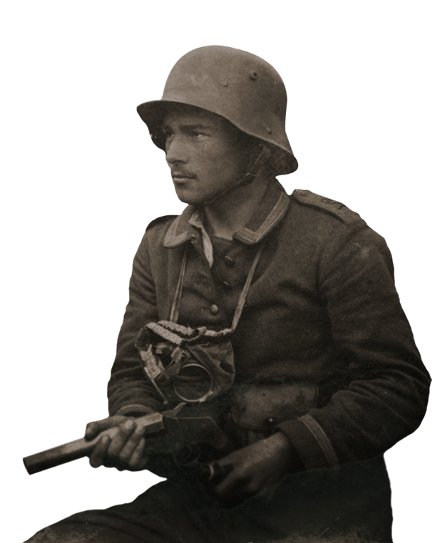 German Soldier transparent PNG.