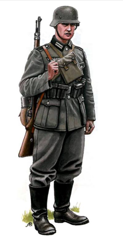 Download Free png German soldier with Kar 98K.