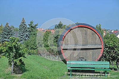 Edenkoben Valley,german Wine Route,Germany Stock Photo.
