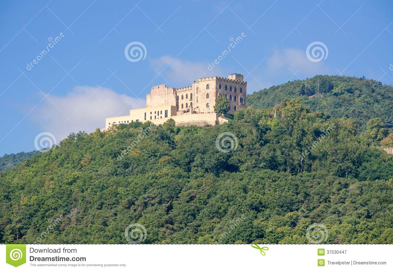Hambach Castle,german Wine Route,Germany Royalty Free Stock.