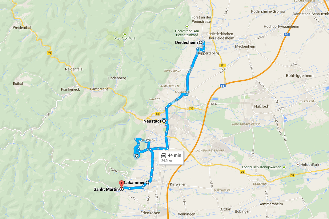 German Wine Road Tours of Germany: Wine Route Itinerary.