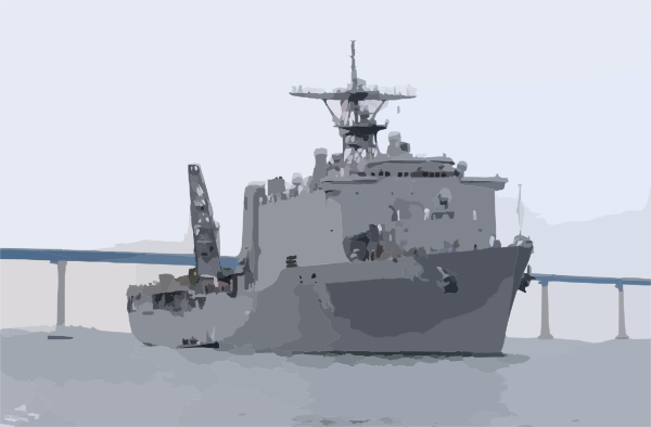 Uss Germantown (lsd 42) Makes Wake In San Diego Clip Art at Clker.