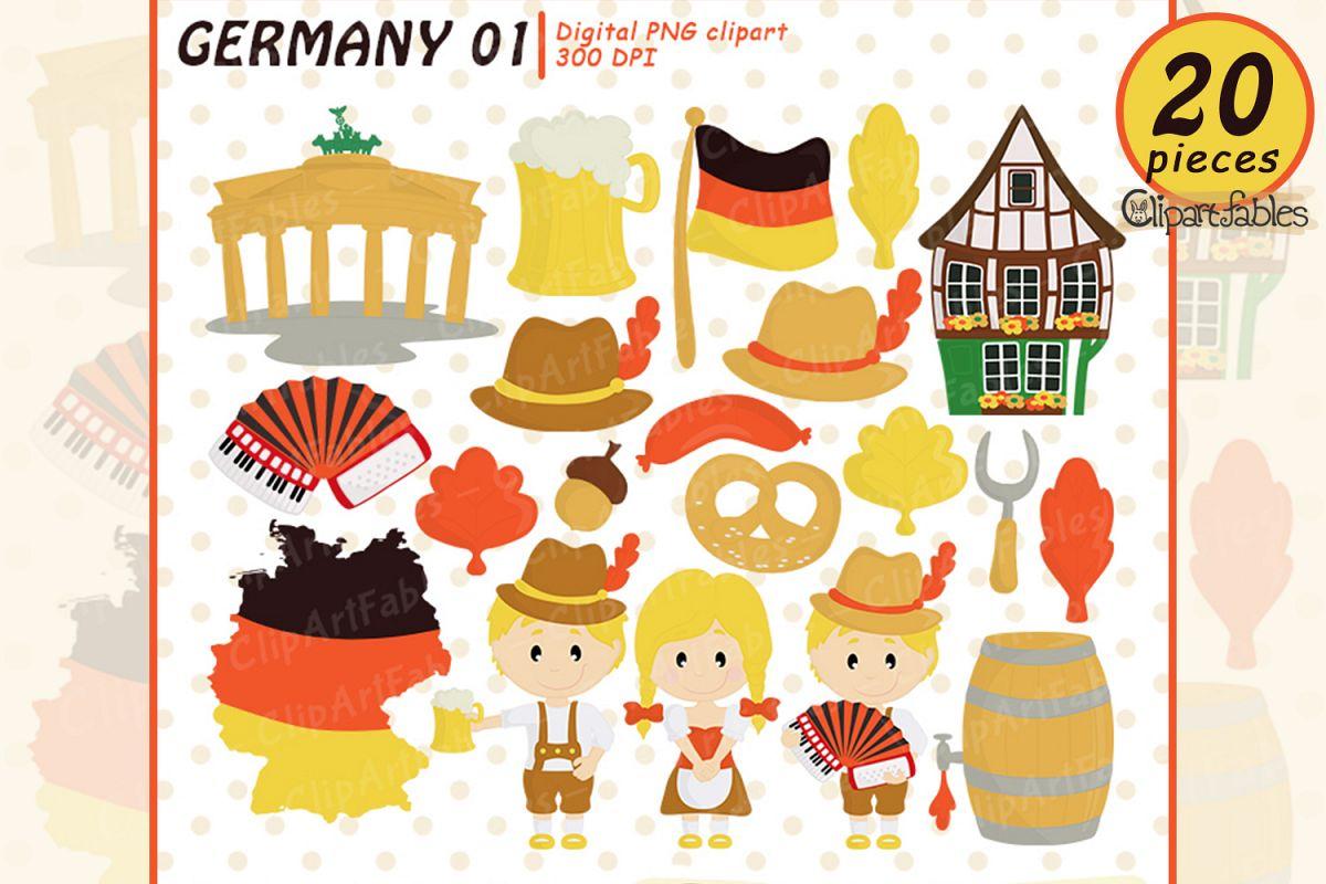 GERMANY clip art, OCTOBERFEST clipart, travel art.