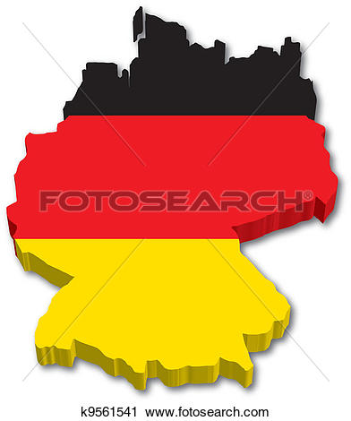Clipart of Map of Germany with zip codes k20446773.