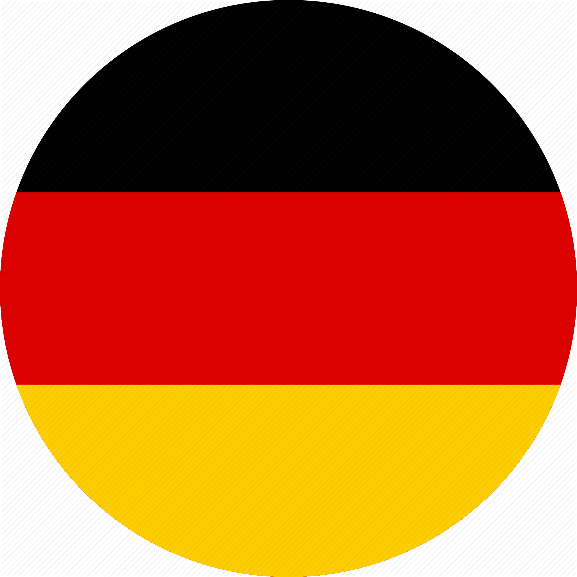 HD Germany Round Flag Png.