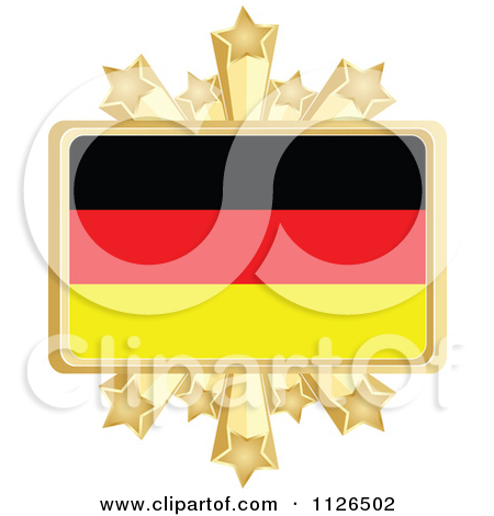 Clipart Golden Floral Map Of Germany.