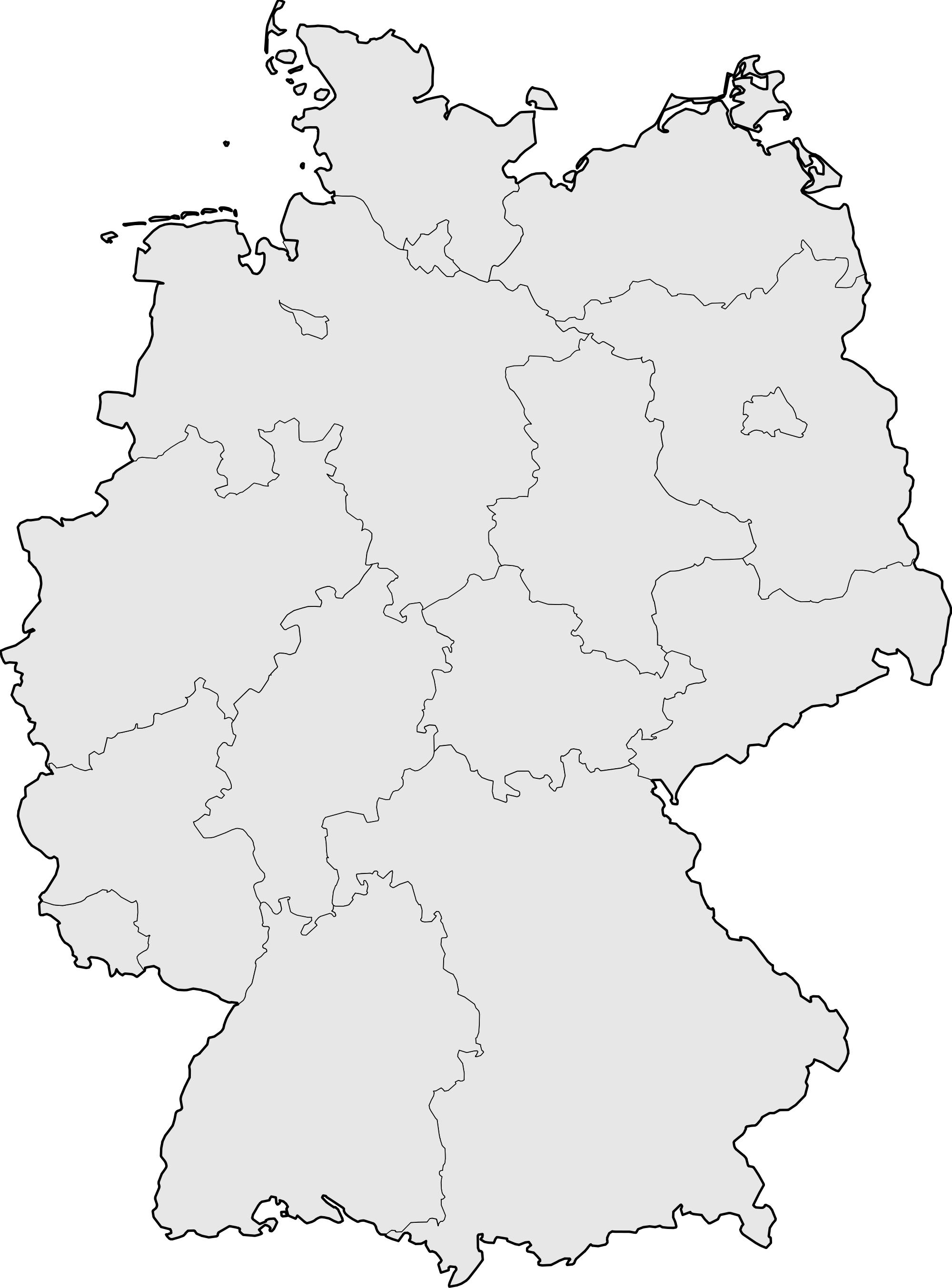 Germany Blank Map • Mapsof.net.