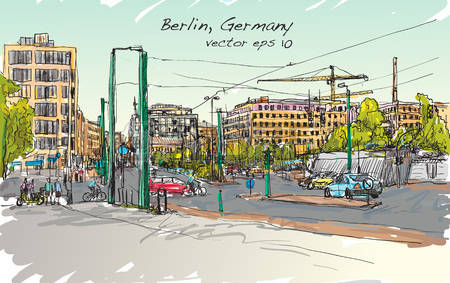 141 City Street Berlin Germany Stock Vector Illustration And.