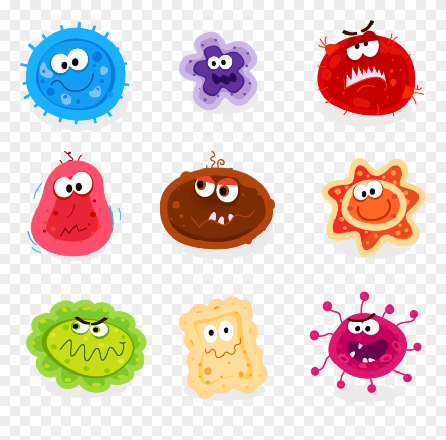 Germs Cartoon Clipart (#3551299).