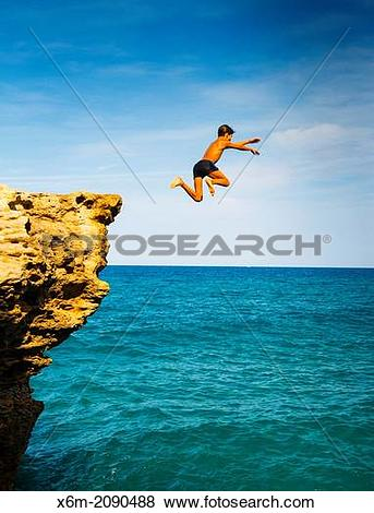 Pictures of Cliff jump. Cala Moreta. Begur. Costa Brava, Gerona.