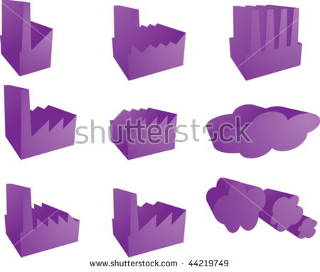 Icon Set Of Factory Industry Illustration Clipart 3d.