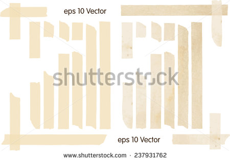 Set Of Vector Illustrations Of Adhesive Tapes.