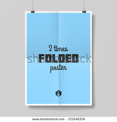 Two Times Folded Poster. Vector..