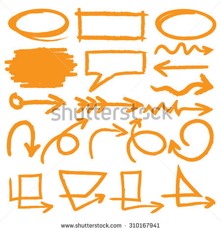 Vector Highlighter Elements Vol 2 Color Stock.