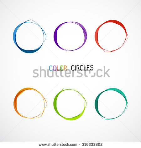 Geometric Circle Entwined Wheels Business Abstract Stock.