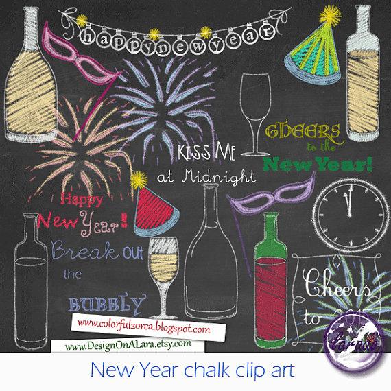 Anno nuovo gesso clipart Clipart Capodanno di di DesignOnALara.
