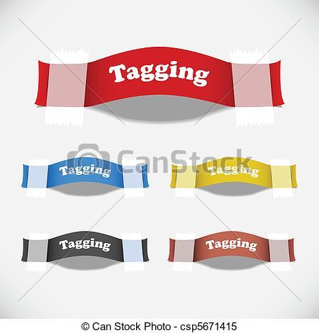Clipart Vector of tag, adesivo, etiqueta, gesso, sombra.