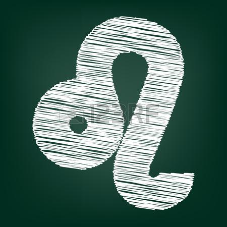 Zodiaco Icona. Illustrazione Vettoriale Con Effetto Gesso Clipart.