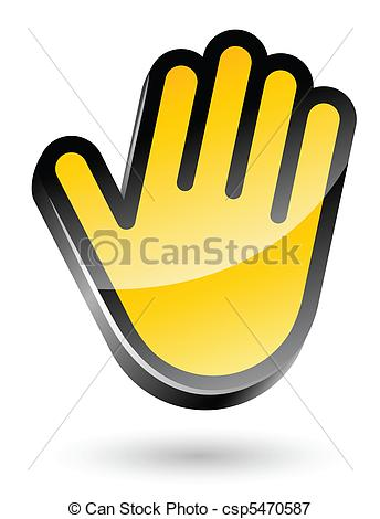 Vectors Illustration of gesticulate hand stop sign vector.