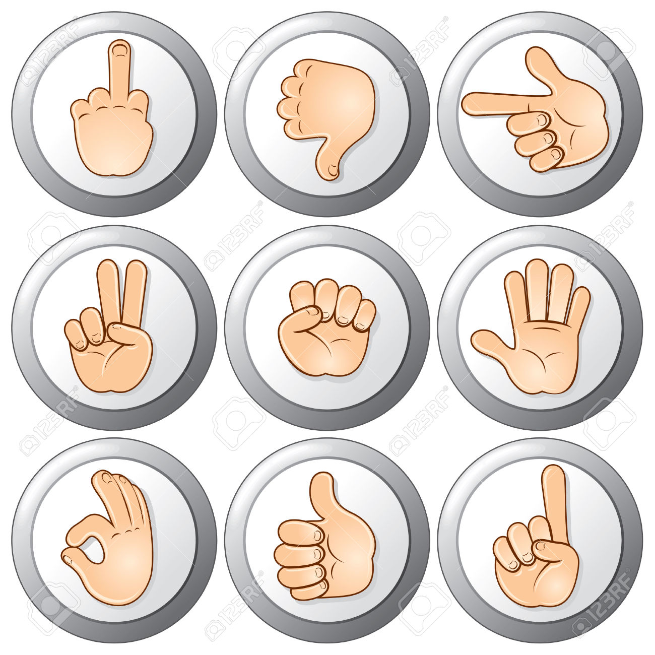 Free hand gesture clipart.