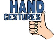 Clipart hand gestures.