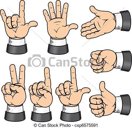 Vector Clip Art of Gestures.