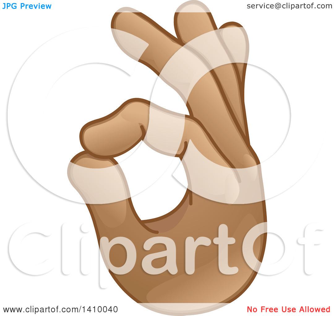 Clipart of a Hand Emoji Gesturing Ok.
