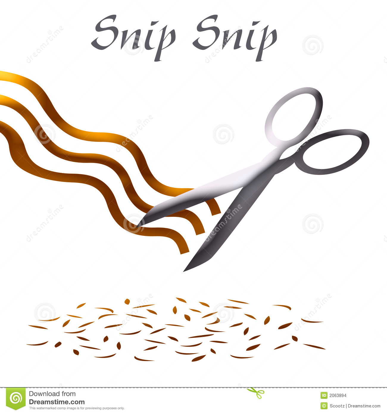 Haircut Clip Art Royalty Free Stock Image.