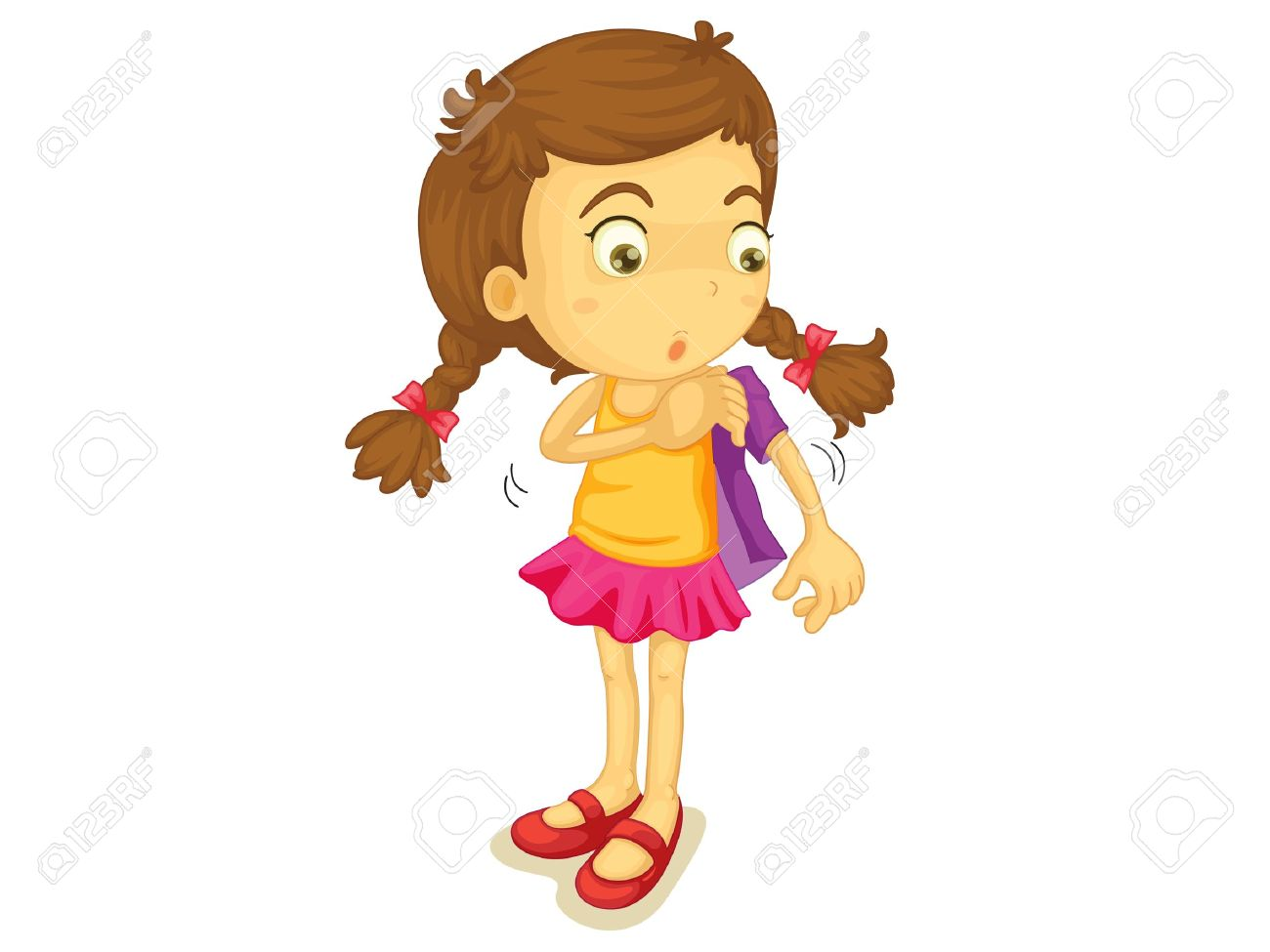 102917 Girl free clipart.