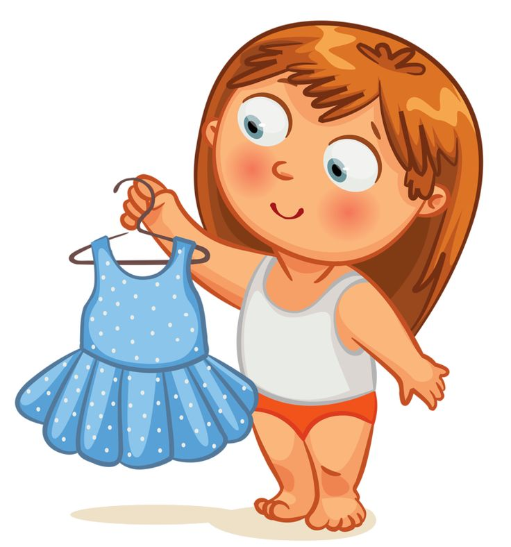 Get Dressed Girl Clipart Clipground
