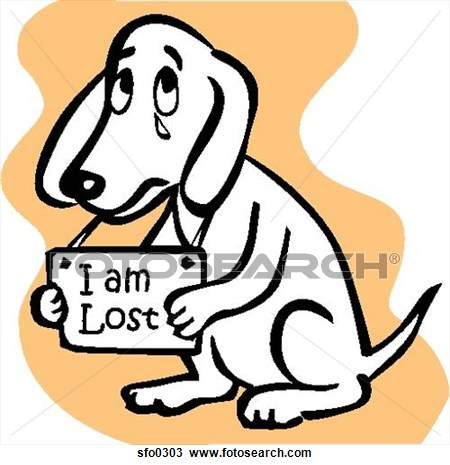 I am lost clip art.