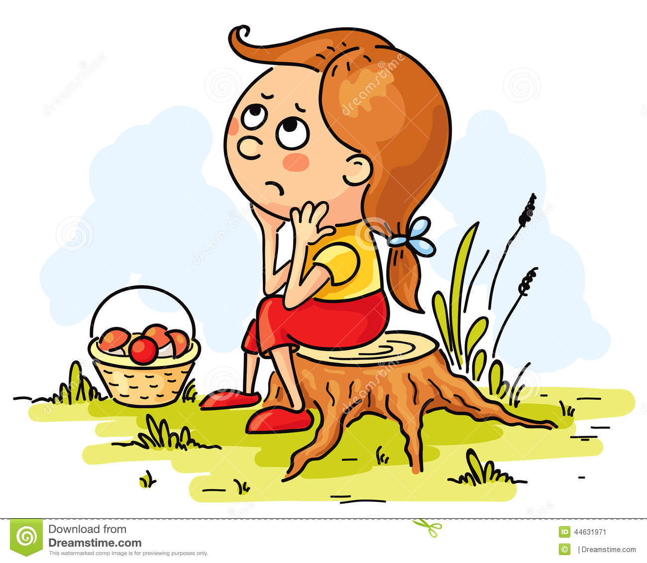 Lost Girl Clipart.