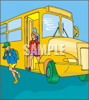 Get off the bus clipart.