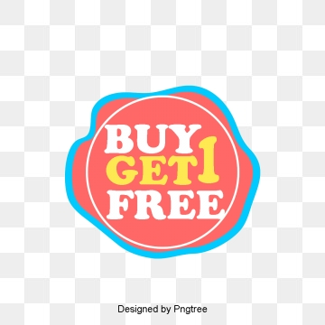 Buy One Get One PNG Images.