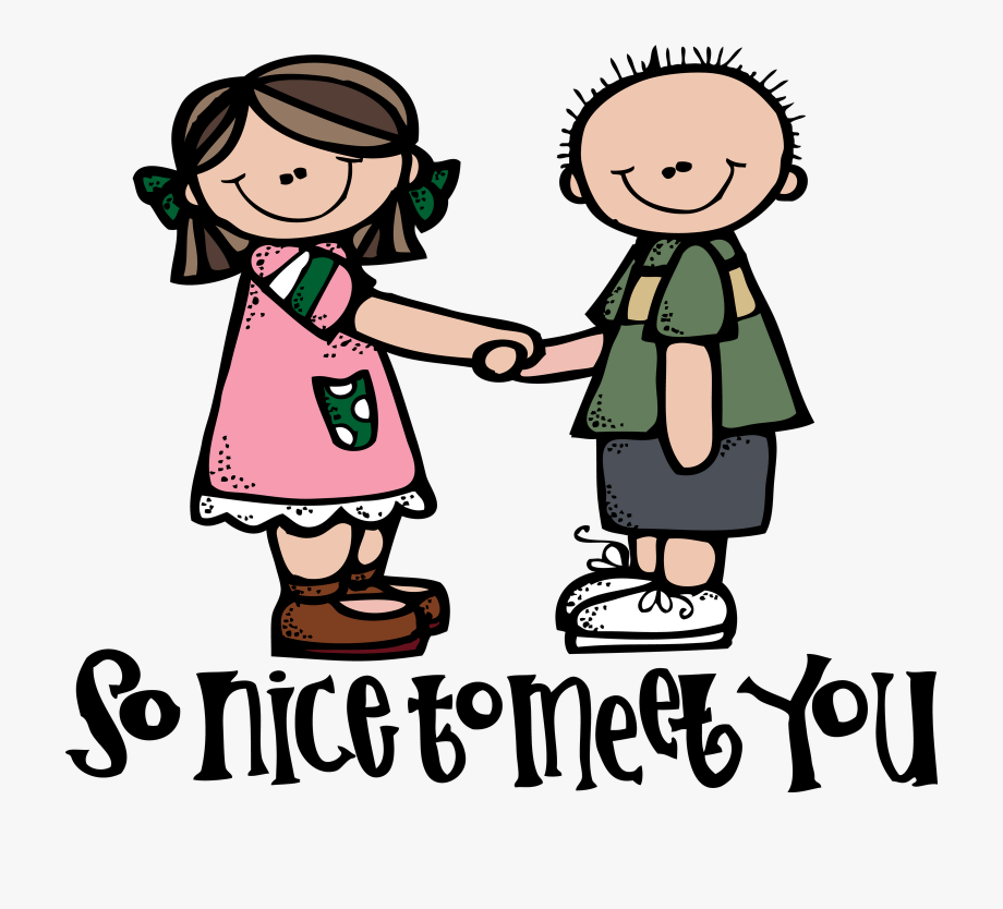 Meeting Someone New Clipart.
