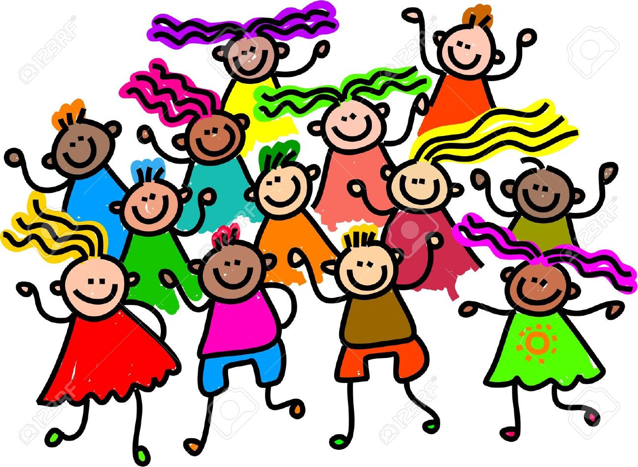 Kids Together Clipart.